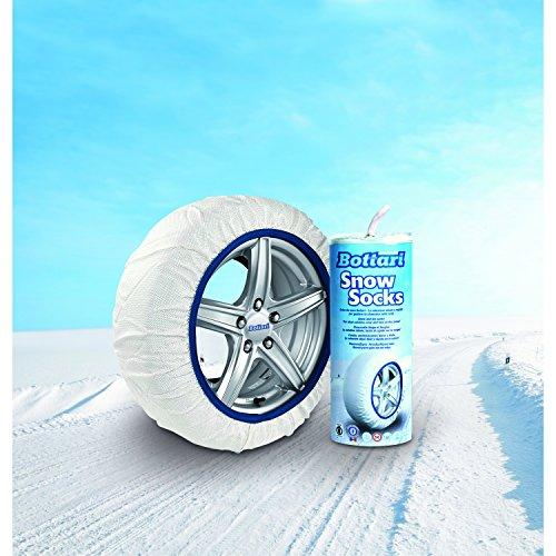 Bottari 68042 Chaussettes à neige en textile, Taille 71, Compatibles ABS et ESP, certifiées TÜV/GS et ÖNORM V5121