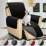 Reversible Large Recliner Cover, Seat Width to 30 Inch, Slipcovers for Recliner, Recliner Chair Cover,Pet Cover for Recliner,Machine Washable(Recliner Oversized:Black/Grey)