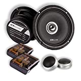 CT SOUNDS 6.5 Inch Car Audio Component Speakers Set - 2-Way Full Range, 1' Voice Coil, 19mm Silk-Dome Tweeter, 300W Peak Power, Rubber Surround Cone For Each Speaker - Strato 2-Way 6.5 Inch