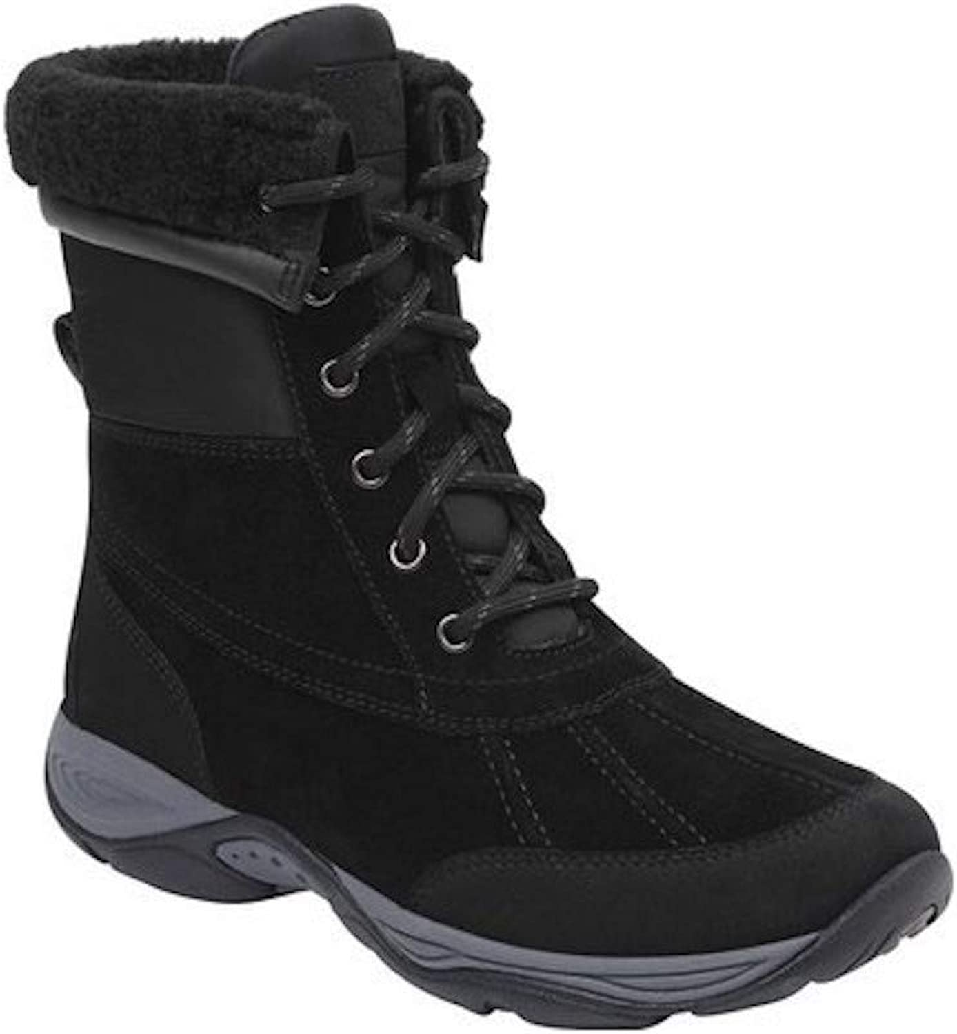 Easy Spirit Womens Elevate Leather Closed Toe Ankle Fashion Boots