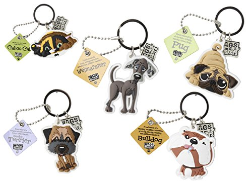 Wags and Whiskers Yorkshire Terrier Key Chain with Keyring/Key Holder (886767110820)