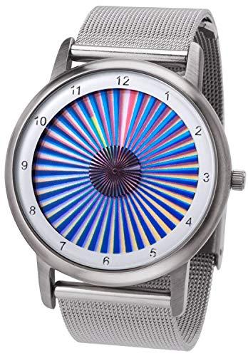 Rainbow Watch Unisex Uhr Quarz Avantgardia Sheer mit Edelstahl Clip Armband Milanese