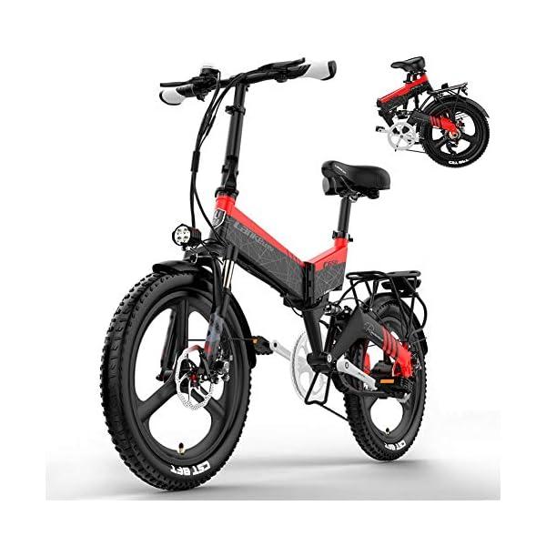 51lTnaIQCqL. SS600  - YMWD 20 Zoll Klapprad E-Bike 400W Fettreifen Elektrofahrrad Mountainbike Für Herren Und Damen Mit 48V 10.4-12.8Ah Lithium-Batterie Bis Zu 120 Km Reichweite Citybike