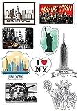 Planche A4 de stickers New York autocollant adhésif scrapbooking - E18