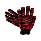 Original Ultra-Premium Extreme Heat Resistant Gloves, EN407 Grill Master Grade Cooking Gloves Great for BBQ, Fireplace Use, Grilling, Cooking, Baking, Smoking, Potholder and Oven Gloves by More