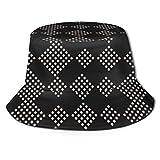 BeiBao-shop Gorras Cuadrados geométricos Patrón Moderno Sombrero de Pescador Sombreros de Sol Unisex Gorra de Camionero Sombrero de Sol Salvaje Informal