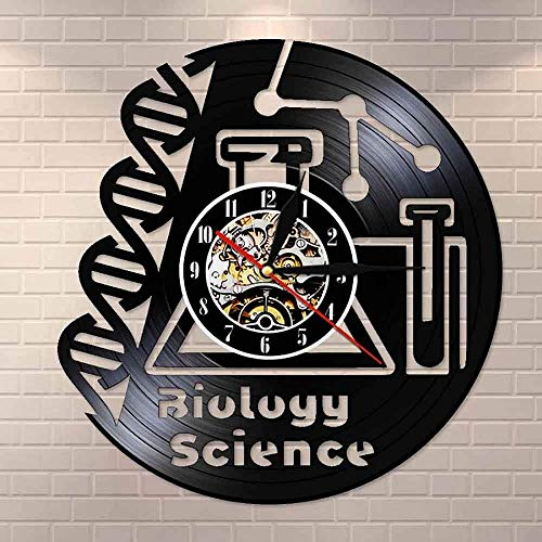 llvvv PhD Mikroskop Chemie Wissenschaft Dekorative Kunst Biologie Wissenschaft Schallplatte Wanduhr Klassenzimmer Schule Universität
