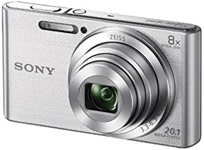 Sony Cybershot DSCW830 20.1MP Digital Camera - Silver