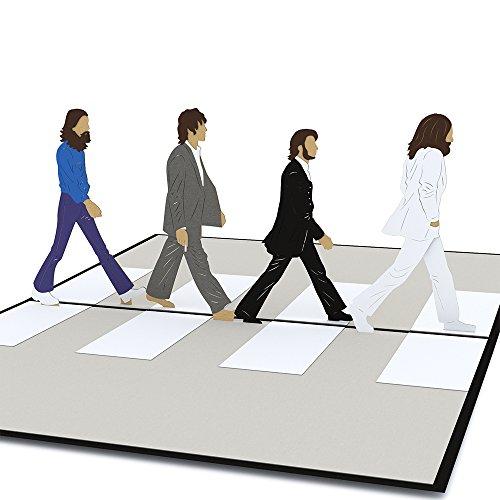 Lovepop The Beatles Abbey Road Pop Up Card - 3D Card, Father�s Day Card, Card for Dad, 3D Father�s Day Card, Dad Card, Birthday Pop Up Card, Card for Husband