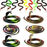 OLJHFG Realistic Rubber Fake Snakes Toys That Look Real Black Mamba Snake for Garden Props to Scare Birds Squirrels and Prank Stuff (20pcs)