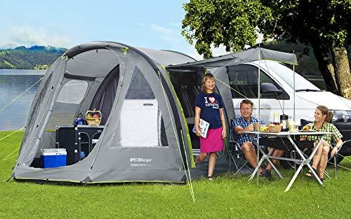 BERGER Busvorzelt Touring Easy-L Deluxe Reisemobilvorzelt aufblasbar Teilvorzelt Vorzelt Zelt grau