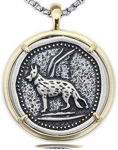 YZXYZH Collar Etiquetas para Perros Hombres Collar De Pastor Alemán Psicología Espiritualidad Canino Mascotas Policía Perros Colgante Joyería Conmemorativa Collar