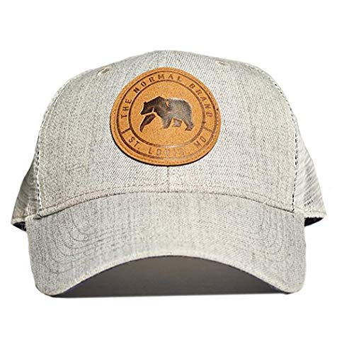The Normal Brand Leather Patch Trucker Cap Grey