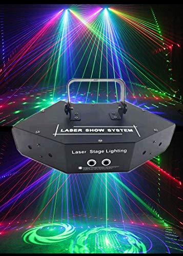 RGB Scanlaser/Dmx LED Scan Bühnenlicht/Dj Beleuchtung Bunter 6 Linsen Scanner/Projektor/Disco Strahleneffekt Lüfterlaser