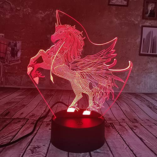 shiyueNB bijzonder creatief licht LED USB 3D nachtlampje 7 kleurverloop energiebesparende slaapkamer tafellamp