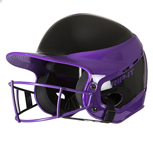 Rip-It Vision Pro Away Softball Batting Helmet (Away Purple, Small/Medium)