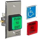 Securitron - PB2E Single Gang 2' Square Momentary Push Button, SPDT