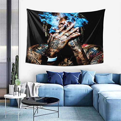 VirgieBSmith Wiz Khalifa Smoking Poster Wall Tapesty Hanging Artistic Tapestry,Multipurpose Tapestry,Tapestries