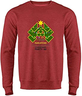 Pop Threads Nakatomi Plaza 1988 Christmas Party Costume Crewneck Sweatshirt for Men
