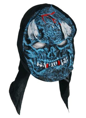 Zombie Masque de cornes en caoutchouc Bleu