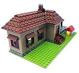 Bloques de construcción en casa, Bungalow, 293 bloques de construcción, juguete de construcción.
