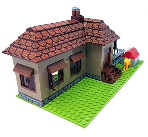 Modbrix Bausteine Haus, Bungalow, 293 Klemmbausteine, Konstruktionsspielzeug