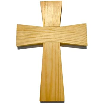 """UNFINISHED ANGLE CENTER WOODEN CROSS CROSSES 11/"""" x 8/"""" Quantity 10"""