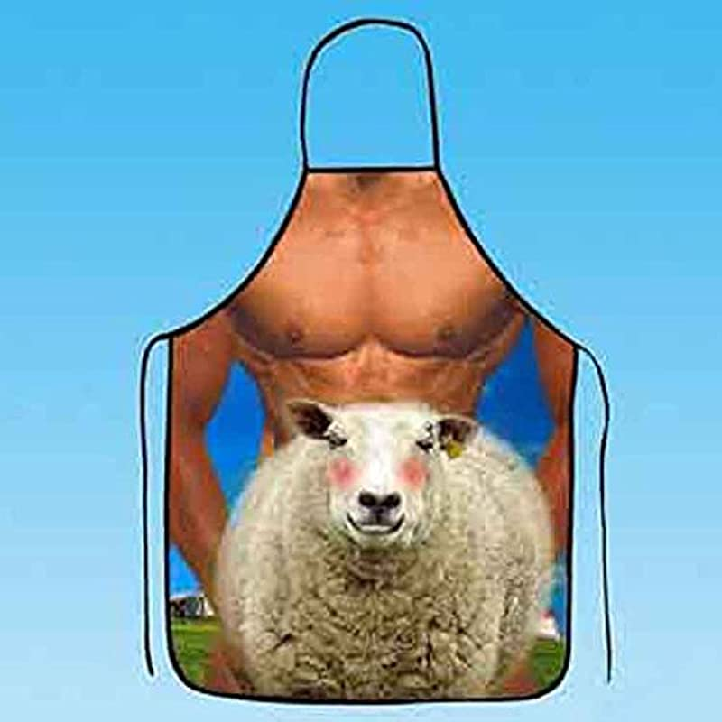 HJLHYL Men S Sheep S Apron Personalized Creative Funny Apron Cute Couple Aprons