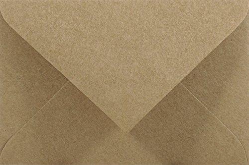 25 Sand-Braun DIN C7 Mini Brief-Umschläge aus Kraftpapier 80x120mm Vintage-Umschläge aus Kraftpapier Natur Briefumschläge recycelt Briefhüllen aus Naturpapier Briefkuverts klein