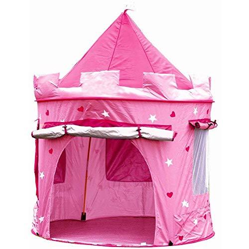 LITI Kinderspielzelt Grosse Kinderzelt, Spielzelt Prinzessin Traum Schloss Burg Haus für Mädchen, im Kinderzimmer, Indoor/innen/außen/draußen, Pop Up