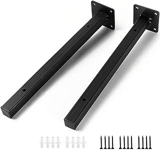 Soporte para Estanterías de Metal - 30cm Soporte de Pared Multiuso Decorativo Estilo Industrial Retro, Estanterías del Hierro del Estilo de la Vendimia de Almacenamiento Montaje en Pared Negro