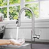 Küchenarmatur, TACKLIFE DAKF6F 360° Drehbar Wasserhahn Küche aus Edelstahl, Einhand-...