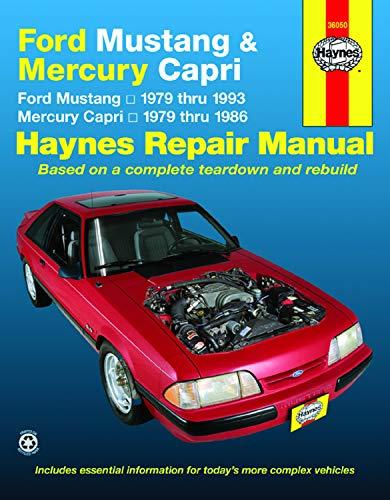 Ford Mustang, Ghia & Cobra (79-93) & Mercury Capri, Ghia & RS (79-86) with In-line 4 cyl & 6 cyl, V6 & V8 Haynes Repair Manual