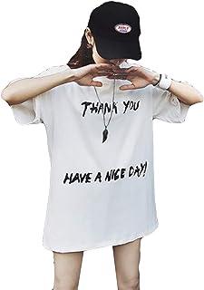 DeBangNiレディース 半袖 tシャツ 夏 トップス オーバサイズ セクシー 可愛い カットソー ゆったり 体型カバー 夏物 トップス 黒tシャツ 大きいサイズ