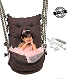 Smartbeans Hammock Swing With Accessories ,Jhula Swing Chair Ideal for Both Kids and Adults ,Cotton Hanging Hammock Suitable for Indoor, Outdoor, Balcony, Home, Bedroom - Capacity 150 Kg (Brown)