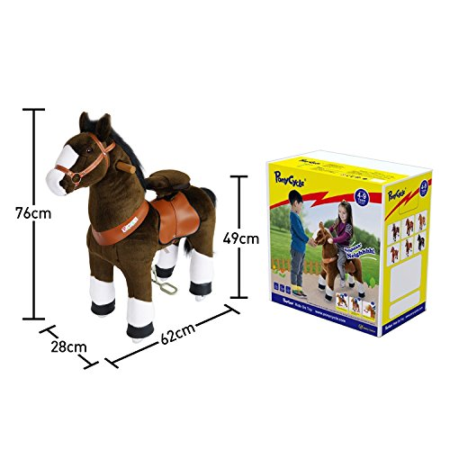 PonyCycle Official Riding Horse Plush Toy Chocolate Brown with White Hoof