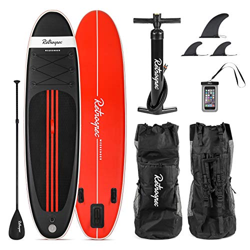 Retrospec Weekender 10' Inflatable Stand Up Paddleboard Triple Layer...