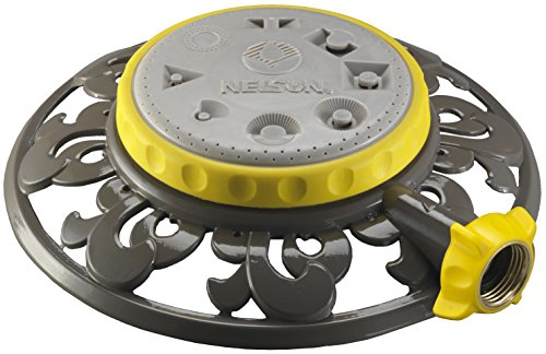 Nelson Eight-Pattern Spray Head Stationary Sprinkler Metal Base