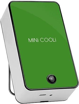 リーフレスファンミニエアコンファンファンエアコンファンUsbミニファンファンファン (色 : 緑)