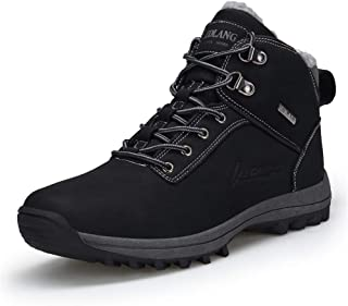 UBHOME Mens Hiking Boots Ankle Support Waterproof Breathable Winter Outdoor Sports Shoes