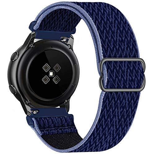 GBPOOT 22mm Correa Compatible con Samsung Galaxy Watch 3(45mm/44mm)/Watch 46mm/Gear S3 Classic/Frontier,Reloj Ajustable de Repuesto Deporte Strap,Pulsera Nylon Banda,Midnight Blue,22mm