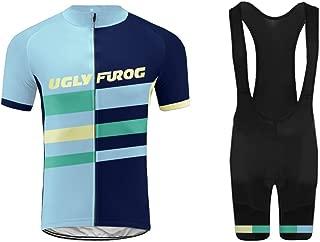 Uglyfrog Ropa Conjunto Traje Equipacion MTB Ciclismo Hombre Verano con 3D Acolchado De Gel, Maillot Ciclismo + Pantalon/Culote Bicicleta para MTB Ciclista Bici FAX19DT01