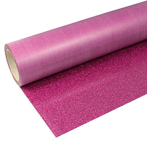 Siser 23,84€/m² Flexfolie Glitter2 G0008 Hot Pink 50cm x 1m Bügelfolie Glitzer Flex Folie