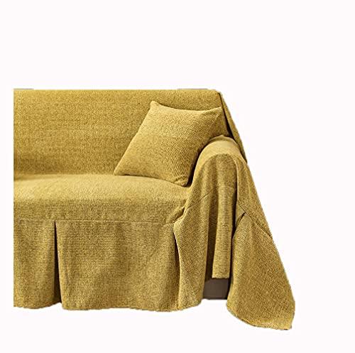 YOUYUEIUI Colcha Multiusos,Fundas Decorativas para sofás,Cubre Sofá Reversible y Acolchado,Funda Chaise Longue Brazo,Mantas Cubre Sofas,Funda de cojín de protección para(Size:3 Seater,Color:Amarillo)