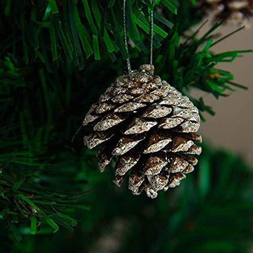foyar adventskranz deko tannenzapfen Natur christbaumsch-5CM Weihnachtsbaum Dekoration - Tannenzapfen Anhänger - Weihnachtsdekoration - natürliche Tannenzapfen gefärbtTannenzapfen Ornamente 6PCS Cozy