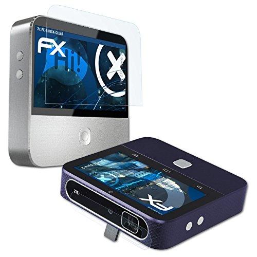 atFoliX Antichoque Película Protectora Compatible con ZTE Spro 2 Protector Película, Ultra Clara y Que Absorbe los Golpes FX Película Protectora (Set de 3)