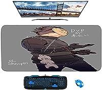 マウスパッド/ナルトアニメマウスパッド/ XLXXLゲーミングマウスパッド滑り止め/汚れ防止/防水マウスパッド-31.4インチx15.7インチ-A_800X300X3mm