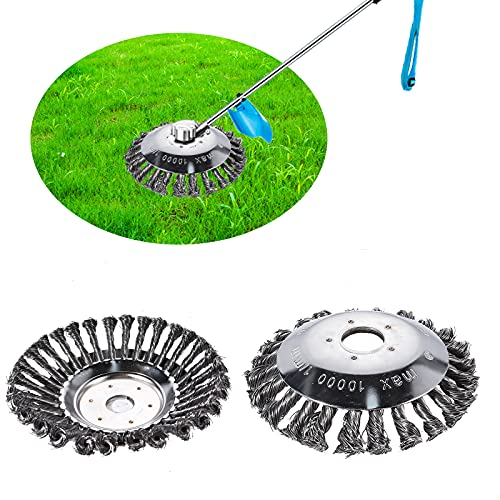 FORMIZON Cepillo Desbrozadora de 250 x 25,4 mm, Cepillo Redondo para Desbrozadora, Cepillo para Desbrozadora de Acero Inoxidable, Universal de Recortadora para Césped Jardín al Aire (8 Pulgadas)