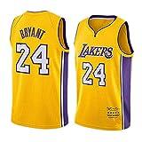 QAZWSX Kobe Bryant #24 Maillot de basket-ball Los Angeles Lakers, Legend Never Dies Mamba Unisexe Sans Manches Sweat-shirt Fans Fitness Training Vêtements - Jaune - XX-Large