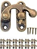 fuxxer–12x Antique fermetures crochets d'arrêt | Bronze Fer Design | pour curseur coffres caisses Boîtes style rétro maison de campagne vintage | 32x 28mm avec schraubenl | assorties Lot de 12